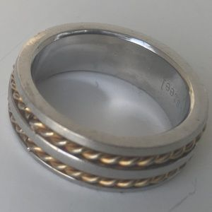 Other - Men's Stainless steel with gold twist band